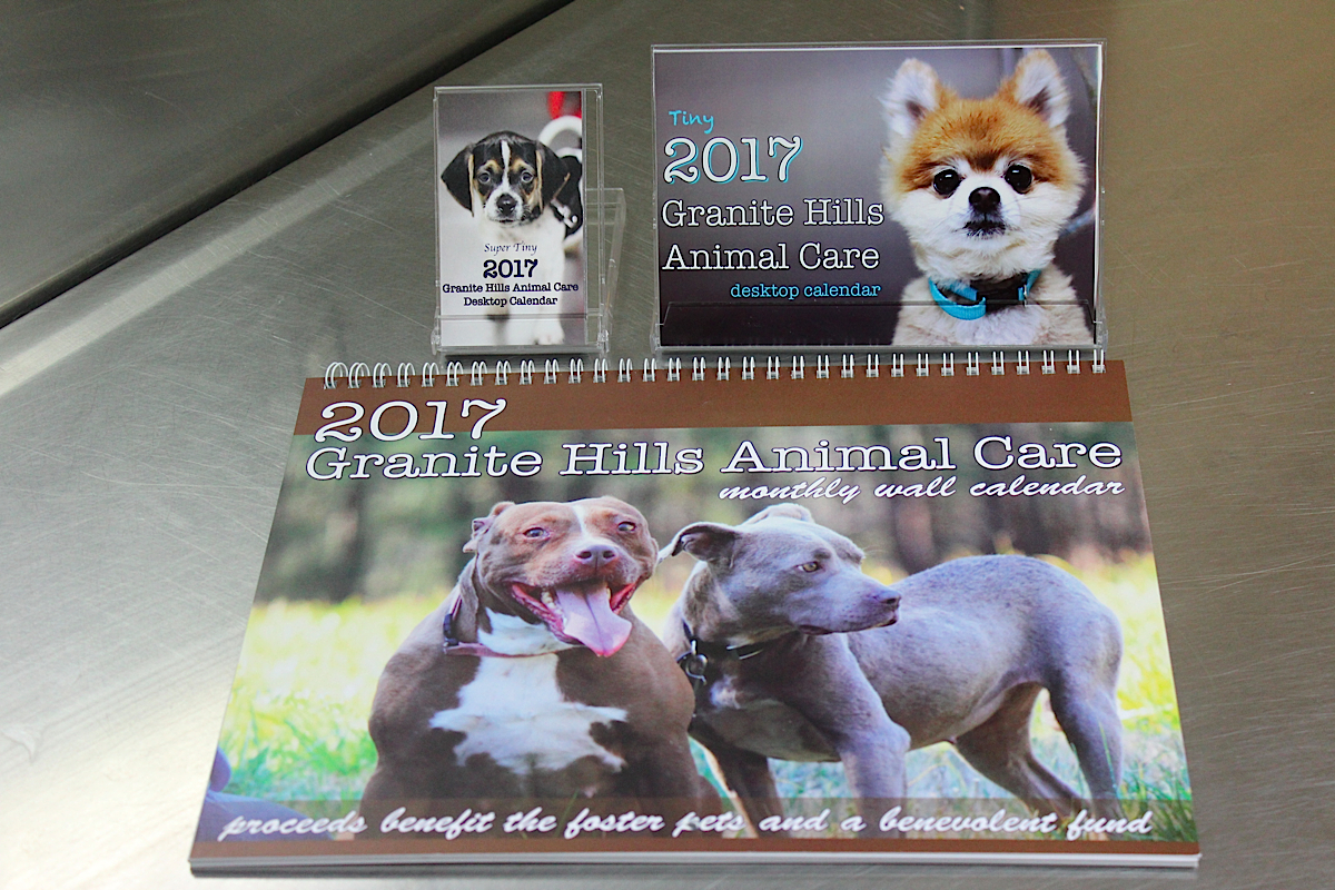 2017 granite hills animal care calendars